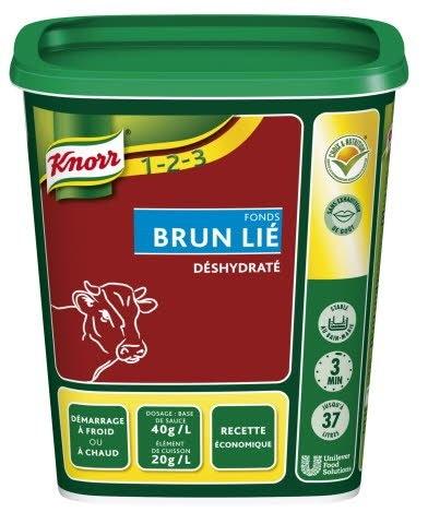 Knorr 1-2-3 Fonds Brun Lié déshydraté 750 g jusqu'à 37L -