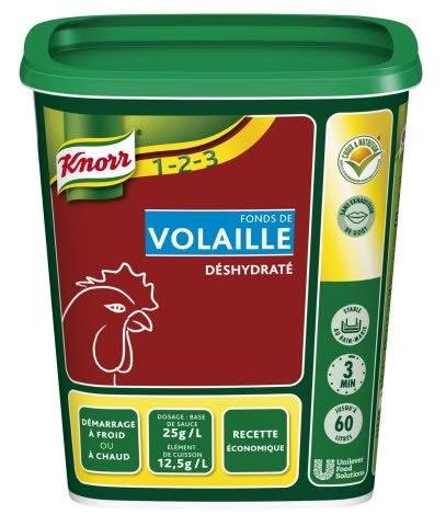 Knorr 1-2-3 Fonds de Volaille déshydraté 750 g jusqu'à 60L -
