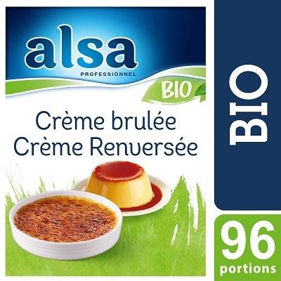 Alsa Crème Brûlée / Renversée Bio 960g 96 portions - La Crème Brûlée / Renversée Bio alsa me permet de réaliser facilement de savoureux desserts bio