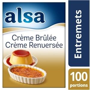 Alsa Crème Brûlée/Crème Renversée 1,35kg 100 portions - Faites de chaque jour un régal avec les Pots de Crème Alsa !