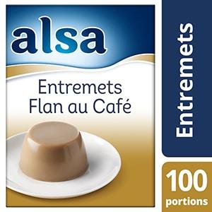 Alsa Entremets-Flan au Café 1,1kg 100 portions - Faites de chaque jour un régal avec les Pots de Crème Alsa !