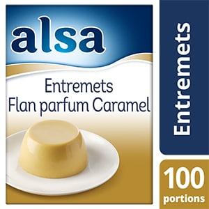 Alsa Entremets-Flan au Caramel 1,05kg 100 portions - Faites de chaque jour un régal avec les Pots de Crème Alsa !