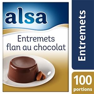 Alsa Entremets-Flan au Chocolat 1,1kg 100 portions - Faites de chaque jour un régal avec les Pots de Crème Alsa !