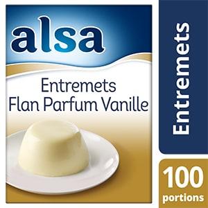 Alsa Entremets-Flan Parfum Vanille 900g 100 portions - Faites de chaque jour un régal avec les Pots de Crème Alsa !