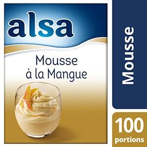 Alsa Mousse à la Mangue 760g 100 portions - Faites de chaque jour un régal avec les mousses Alsa !