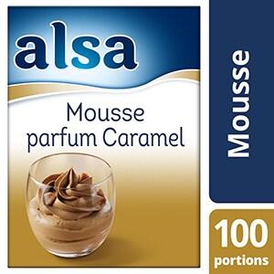Alsa Mousse au Caramel 1kg 100 portions - Faites de chaque jour un régal avec les mousses Alsa !