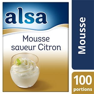 Alsa Mousse au Citron 800g 100 portions - Faites de chaque jour un régal avec les mousses Alsa !