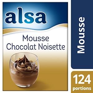 Alsa Mousse Chocolat/Noisette 1,2kg 124 portions - Faites de chaque jour un régal avec les mousses Alsa !