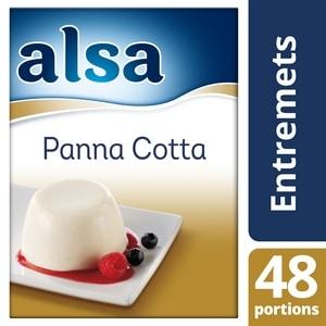 Alsa Panna Cotta 520g 48 portions - Faites de chaque jour un régal avec les desserts Alsa !