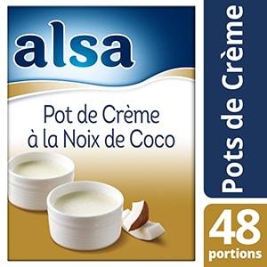 Alsa Pot de Crème à la Noix de Coco 740g 48 portions - Faites de chaque jour un régal avec les Pots de crème Alsa !