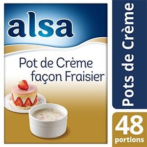 Alsa Pot de Crème façon Fraisier 740g 48 portions -