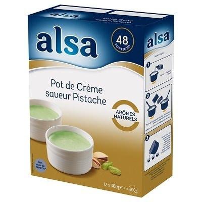 Alsa Pot de Crème saveur Pistache 600g 48 portions -