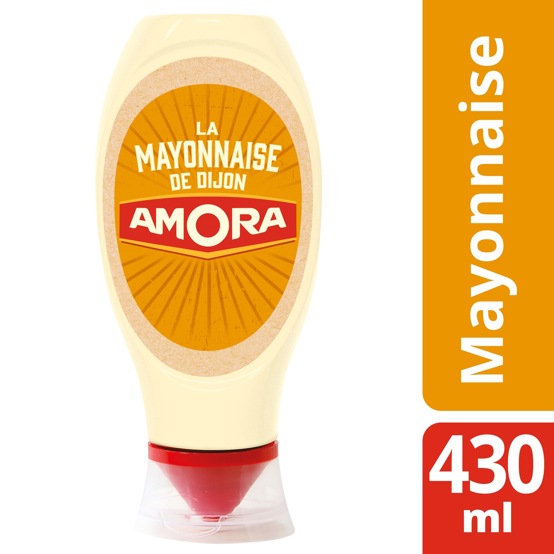 Amora Mayonnaise de Dijon Flacon 430ml - Restaurateurs, inscrivez-vous au programme Amora® J'AIME MON RESTO, recevez votre box et dynamisez votre restaurant !
