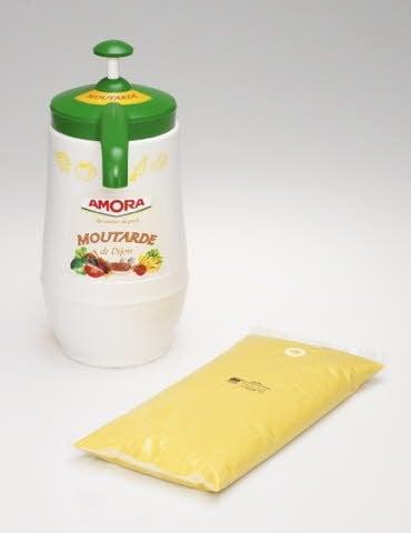 Amora Moutarde de Dijon Colis de 6 poches de 2,5kg -