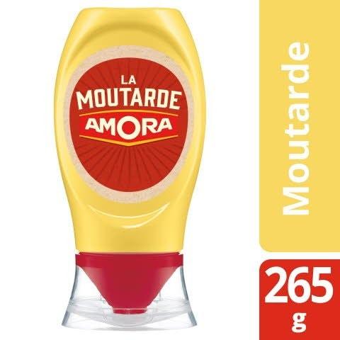 Amora Moutarde flacon souple 265g - La Moutarde AMORA®,idéale pour apporter finesse et piquant à chacun de vos plats !