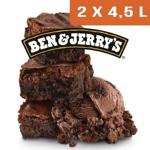 Ben & Jerry's Bac Chocolate Fudge Brownie- 2 x 4,5L -
