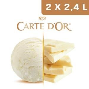 Carte d'Or Crème glacée Chocolat blanc - 2,4 L -