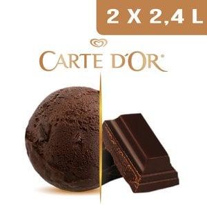 Carte d'Or Crème glacée Chocolat noir - 2,4 L -