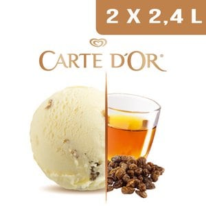 Carte d'Or Crème glacée Rhum-Raisins -  2,4 L -