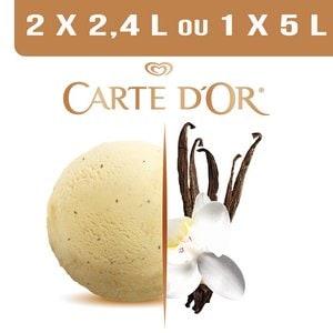 Carte d'Or Crème glacée Vanille Bourbon de Madagascar - 2,4 L -