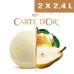 Carte d'Or Sorbets plein fruit Poire - 2,4 L  -