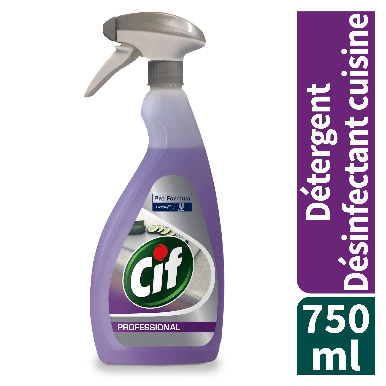 Cif Professionnel Détergent et Désinfectant 6x750ml -