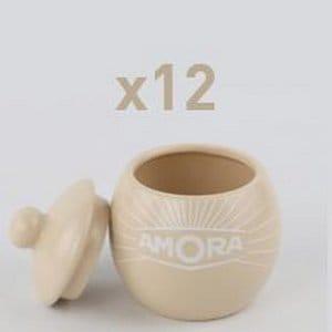 Vous avez gagné 6 moutardiers en grès Amora ! (offre réservée à la restauration privée) -