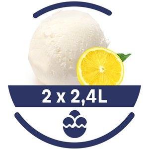 Mon Petit Glacier Bac Citron Jaune de Sicile - 2 x 2,4 L -