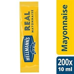 Hellmann's Mayonnaise - Carton de 198 dosettes  de 10ml -