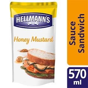 Hellmann's Sauce Sandwich et Burger Miel Moutarde 570ml - Hellmann's a développé des sauces sandwiches pour vous permettre d'ajouter encore plus de goût aux sandwiches et burgers les plus populaires.