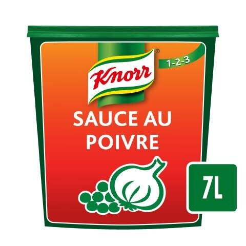 Knorr 123 Sauce au Poivre déshydratée 840g jusqu'à 7L -
