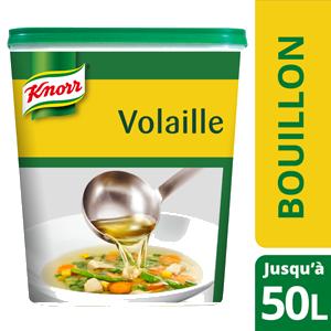 Knorr Bouillon de Volaille Déshydraté 1kg jusqu'à 50L - Le bouillon de volaille Knorr offre un bon goût authentique de poule.