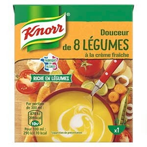 Knorr Douceur de 8 Légumes à la Crème Fraîche 30cl -