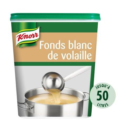 Knorr Fonds Blanc de Volaille Déshydraté Boîte 750g jusqu'à 50L -