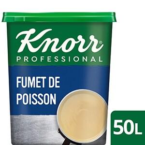 Knorr Fumet de Poisson Déshydraté Boîte 750g jusqu'à 50L - Le Fumet de Poisson Knorr apporte finesse et équilibre à vos sauces sans les dénaturer !