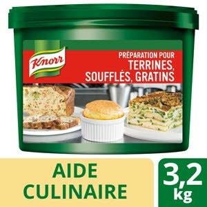 Knorr Préparation pour terrines soufflés gratins seau 3,2kg -