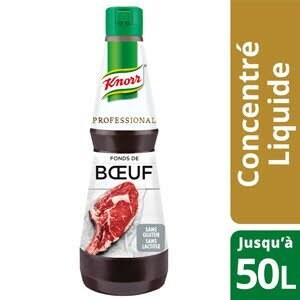Knorr Professional Fond de Boeuf Concentré Bouteille 1L - Un goût authentique et intense