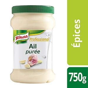 Knorr Professional Purée d'Ail Pot 750g - Des recettes développées en partenariat avec le chef étoilé Bruno Oger, pour vous donner la garantie du meilleur goût.