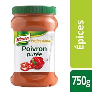 Knorr Professional Purée de poivron Pot 750g - Des recettes développées en partenariat avec le chef étoilé Bruno Oger, pour vous donner la garantie du meilleur goût.