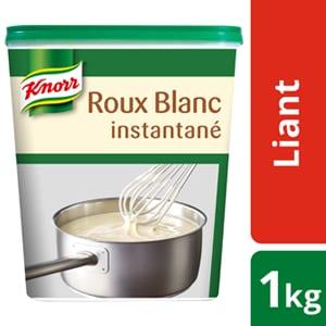 Knorr Roux Blanc Instantané Déshydraté 1kg - Avec le Roux Blanc Knorr, je lie mes sauces à la perfection, instantanément*