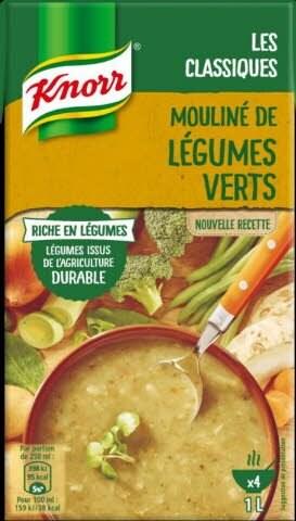 Knorr Soupe Liquide - Mouliné de légumes verts  1l -
