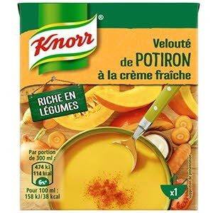 Knorr Velouté de Potiron à la Crème Fraîche 30cl -