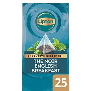 Lipton Exclusive Selection Thé English Breakfast 25 Sachets Pyramides -