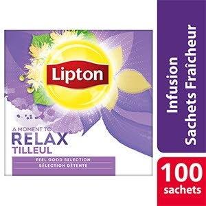 Lipton Feel Good Selection Infusion Tilleul 100 sachets fraîcheur - Lipton sachets fraîcheur, une gamme unique pour chaque moment de la journée.