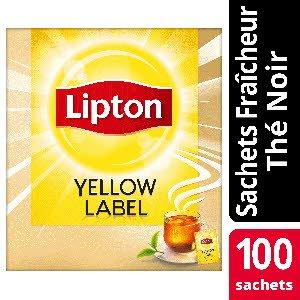 Lipton Feel Good Selection Thé noir Yellow Label 100 sachets fraîcheur - Lipton sachets fraîcheur, une gamme unique pour chaque moment de la journée.