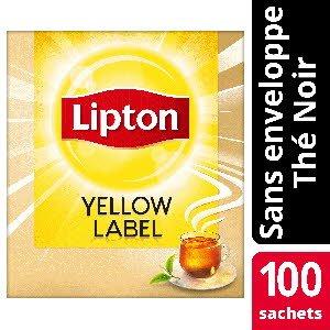 Lipton Thé noir Yellow Label 100 sachets service -