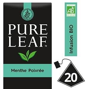 Pure Leaf BIO Infusion Menthe Poivrée 20 sachets pyramides -