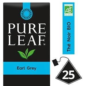 Pure Leaf BIO Thé Noir Earl Grey 25 sachets pyramides -