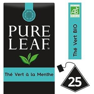 Pure Leaf BIO Thé Vert Menthe 25 sachets pyramides -