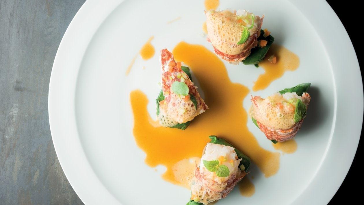 Fricassée de homard, artichauts et épinards – Recette